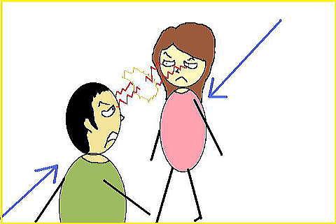 人間関係で衝突する人
