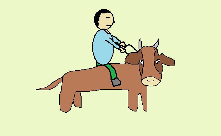 牛に乗る仙人