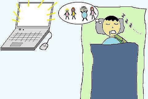 睡眠中に夢を見る
